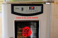 TANZANIA, Korogwe, village Kwalukonge, KWALUKONGE HEALTH CENTRE, blood bank refrierator / TANSANIA, Korogwe, KWALUKONGE HEALTH CENTRE, Krankenhaus, Kuehlschrank fuer Blutkonserven