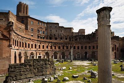 Italy, Lazio, Rome: Ruins of Trajan's market, Trajan Forum (Foro Traiano) | Italien, Latium, Rom: Ruinen der Trajansmaerkte (Mercati di Traiano) im Trajansforum (Forum Traiani)