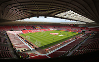 Interior view of the stadium prior to the Premier League match between Sunderland and Swansea City at the Stadium of Light, Sunderland, England, UK. Saturday 13 May 2017