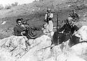 Iraq 1962.In Qara Dagh, left Sheikh Mohamed, right Mullah Mohamed Amin. Irak 1962. Au Qara Dagh, a gauche , Sheikh Mohamed Kasnazani, a droite, Mullah Mohamed Amin