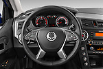 Car pictures of steering wheel view of a2014 Ssangyong Actyon Sports Quartz 4 Door Pick Up Steering Wheel