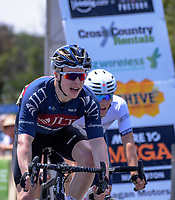 Matt Gibson (JLT Condor) wins Stage Three of the 2018 NZ Cycle Classic UCI Oceania Tour (Masterton to Martinborough) in Wairarapa, New Zealand on Friday, 19 January 2018. Photo: Dave Lintott / lintottphoto.co.nz