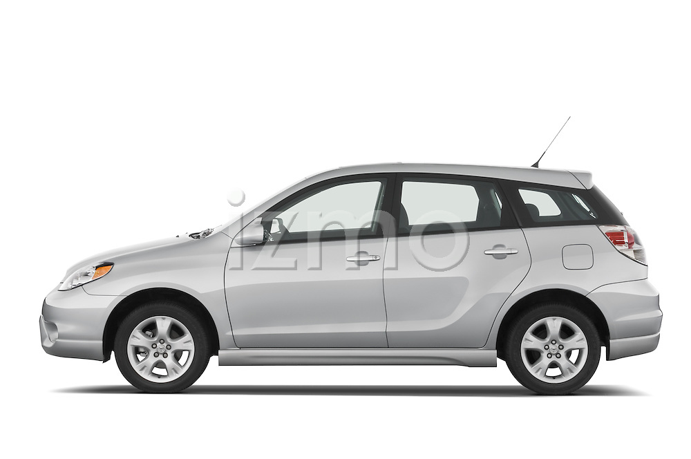 Driver side profile view of a 2008 Toyota Matrix wagon.