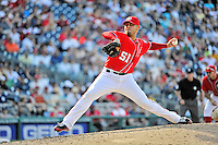 16 June 2012: Washington Nationals pitcher Mike Gonzalez on the mound against the New York Yankees at Nationals Park in Washington, DC. The Yankees defeated the Nationals in 14 innings by a score of 5-3, taking the second game of their 3-game series. Mandatory Credit: Ed Wolfstein Photo