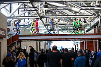 SAN JOSE, CA - MAY 15: San Jose Earthquakes starting eleven and fans during a game between Portland Timbers and San Jose Earthquakes at PayPal Park on May 15, 2021 in San Jose, California.