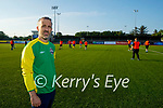 Tadgh McMullen who is hosting 'Gladiators' a mixed ability Soccer Team in Ireland training in KDL pitch on Monday evening.