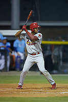 Jhon Torres (22) of the Johnson City Cardinals at bat against the Burlington Royals at Burlington Athletic Stadium on September 3, 2019 in Burlington, North Carolina. The Cardinals defeated the Royals 7-2 to even Appalachian League Championship series at one game a piece. (Brian Westerholt/Four Seam Images)