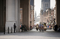 race leaders passing through the Menin Gate War Memorial<br /> <br /> 81st Gent-Wevelgem 'in Flanders Fields' 2019<br /> One day race (1.UWT) from Deinze to Wevelgem (BEL/251km)<br /> <br /> ©kramon