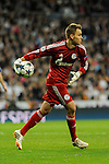 FC Shalke 04´s goalkeeper Timon Wellenreuther during 2014-15 Champions League match between Real Madrid and FC Shalke 04 at Santiago Bernabeu stadium in Madrid, Spain. March 10, 2015. (ALTERPHOTOS/Luis Fernandez)