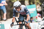 Giulio Ciccone (ITA) Trek-Segafredo in action during Stage 1 of La Vuelta d'Espana 2021, a 7.1km individual time trial around Burgos, Spain. 14th August 2021.    <br /> Picture: Unipublic/Charly Lopez | Cyclefile<br /> <br /> All photos usage must carry mandatory copyright credit (© Cyclefile | Unipublic/Charly Lopez)