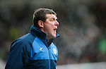 St Johnstone v Celtic...13.12.15  SPFL  McDiarmid Park, Perth<br /> Tommy Wright shouts instructions<br /> Picture by Graeme Hart.<br /> Copyright Perthshire Picture Agency<br /> Tel: 01738 623350  Mobile: 07990 594431