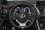 Car pictures of steering wheel view of a 2015 Lexus NX 300h F Sport 4WD 5 Door SUV 4WD Steering Wheel