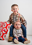 WATERBURY, CT-120218JS01- Christmas Kids, Joseph Jacovino of Prospect, and his brother Jason Jacovino, 7-months old. <br /> Jim Shannon Republican American