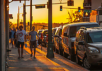 Memphis Tennessee, Street scenic sunset photograph. Urban Street. Downtown Memphis.<br />