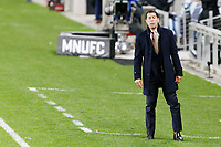 ST PAUL, MN - OCTOBER 18: Tab Ramos Head Coach of Houston Dynamo during a game between Houston Dynamo and Minnesota United FC at Allianz Field on October 18, 2020 in St Paul, Minnesota.