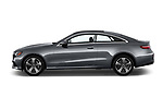 Car driver side profile view of a 2018 Mercedes Benz E-Class E400 2 Door Coupe