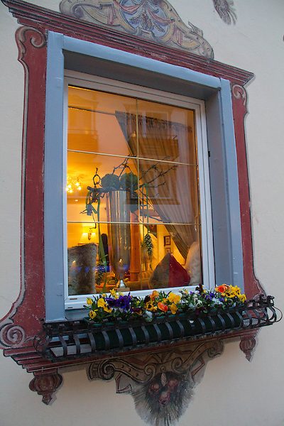 Austria, St Anton.  Make a Still-Life<br /> A window is a natural frame to an interesting interior. Stand off to one side to create diagonal lines and a better composition.