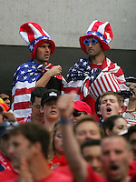 USA fans at Soldier Field in Chicago, IL, Saturday, May 28, 2005. England won 2-1.
