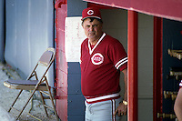 Cincinnati Reds manager Lou Piniella during spring training circa 1990 at Chain of Lakes Park in Winter Haven, Florida.  (MJA/Four Seam Images)