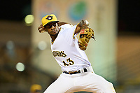 Bradenton Marauders pitcher Oliver Mateo (43) during Game Two of the Low-A Southeast Championship Series against the Tampa Tarpons on September 22, 2021 at LECOM Park in Bradenton, Florida.  (Mike Janes/Four Seam Images)