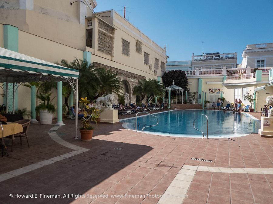 Swimming pool at Hotel Union, Cienfuegos