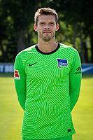 17th August 2020; Berlin, Germany. Hertha Berlin official Bundesliga season portraits, season 2020-21:  Rune Almenning Jarstein Hertha BSC, TW, No.22