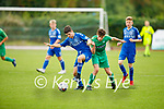 Oisin Breen of Kerry and Limerick's Ben Costello tussle for possession in the EA Sports U17 League of Ireland soccer game
