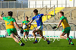 David Clifford, Kerry in action against Eamonn Doherty, Donegal during the Allianz Football League Division 1 Round 7 match between Kerry and Donegal at Austin Stack Park in Tralee on Saturday.