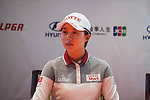 Hyo-Joo Kim of Korea attends the press conference ahead of the Hyundai China Ladies Open 2014 on December 10 2014 at Mission Hills Shenzhen, in Shenzhen, China. Photo by Xaume Olleros / Power Sport Images