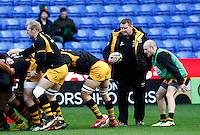 Photo: Richard Lane/Richard Lane Photography. London Irish v London Wasps. Aviva Premiership. 30/11/2013. Wasps' Director of Rugby, Dai Young oversees warm up.