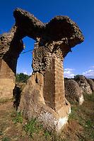 Italien, Umbrien, Römische Stadt Ocriculum in Otricoli, Amphitheater