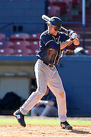 Akron Zips outfielder Andrew Fanning #22 during a game vs. the Xavier Musketeers at Chain of Lakes Park in Winter Haven, Florida;  March 11, 2011.  Xavier defeated Akron 7-0.  Photo By Mike Janes/Four Seam Images