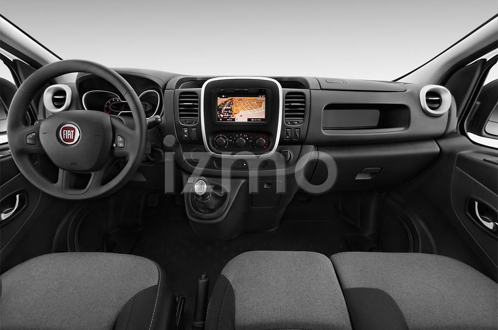 Stock photo of straight dashboard view of 2017 Fiat Talento Pack 4 Door Cargo Van Dashboard