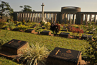 The Taukkyan War Cemetery that houses the graves of 6374 allied soldiers who died during the Burma and assam campaigns of WW11, north of  Rangoon, Burma, November 2008. The is also a monumnt to 27,000 soldiers who have no known grave. The site is maintained by the Commonwealth War Graves Commission.<br />