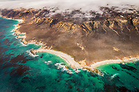 San Miguel Island, aerial photograph, Channel Islands National Park, California, USA, Pacific Ocean