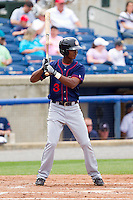 Michael Taylor #3 of the Hagerstown Suns at bat against the Rome Braves at State Mutual Stadium on May 1, 2011 in Rome, Georgia.   Photo by Brian Westerholt / Four Seam Images