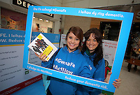Pictured: Louisa Lorey (R) and Sara Manchipp (L) Saturday 18 Saturday<br />Re: Welsh Government Dementia Risk Prevention Roadshow at the Quadrant Shopping Centre in Swansea, Wales, UK.
