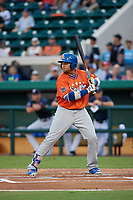 St. Lucie Mets Jhoan Urena (41) bats during the Florida State League All-Star Game on June 17, 2017 at Joker Marchant Stadium in Lakeland, Florida.  FSL North All-Stars defeated the FSL South All-Stars  5-2.  (Mike Janes/Four Seam Images)