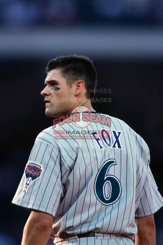 Andy Fox of the Arizona Diamondbacks during a 1999 season Major League Baseball game against the Los Angeles Dodgers at Dodger Stadium in Los Angeles, California. (Larry Goren/Four Seam Images)