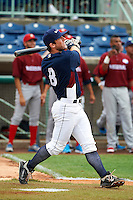 Mahoning Valley Scrappers infielder Joe Sever #8 during the home run derby before the NY-Penn League All-Star Game at Eastwood Field on August 14, 2012 in Niles, Ohio.  National League defeated the American League 8-1.  (Mike Janes/Four Seam Images)