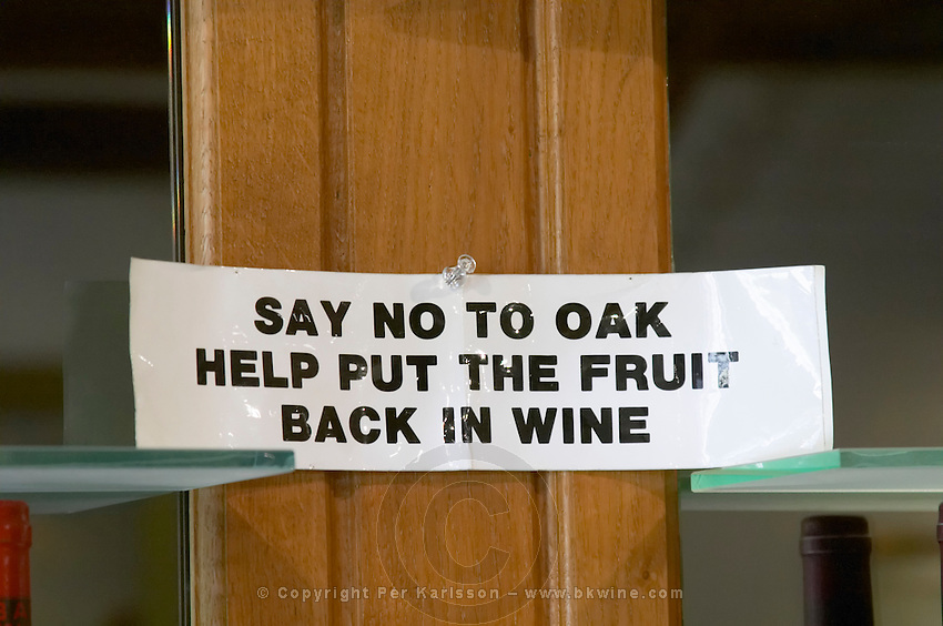notice say no to oak help put fruit back in wine in the tasting room f e trimbach ribeauville alsace france