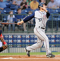 11 April 2008: Greg Thomson of the Mobile BayBears, Class AA affiliate of the Arizona Diamondbacks, in a game against the Mississippi Braves at Trustmark Park in Pearl, Miss. Photo by:  Tom Priddy/Four Seam Images
