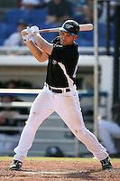 February 25, 2009:  Third baseman Scott Campbell (64) of the Toronto Blue Jays during a Spring Training game at Dunedin Stadium in Dunedin, FL.  The New York Yankees defeated the Toronto Blue Jays 6-1.   Photo by:  Mike Janes/Four Seam Images