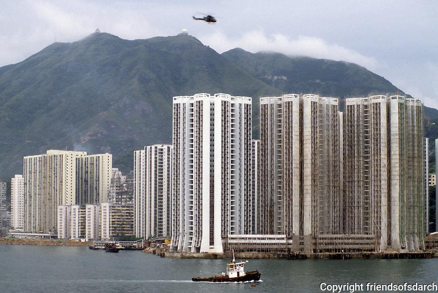 Hong Kong: High-rise housing along Causeway Bay. Photo '81.