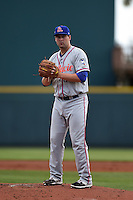St. Lucie Mets pitcher Logan Taylor (36) gets ready to deliver a pitch during a game against the Bradenton Marauders on April 12, 2015 at McKechnie Field in Bradenton, Florida.  Bradenton defeated St. Lucie 7-5.  (Mike Janes/Four Seam Images)