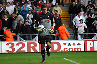 ATTENTION SPORTS PICTURE DESK<br /> Pictured: Dorus de Vries of Swansea City in action<br /> Re: Coca Cola Championship, Swansea City Football Club v Cardiff City FC at the Liberty Stadium, Swansea, south Wales. Saturday 07 November 2009