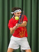 Rotterdam, Netherlands, Januari 24, 2016,  ABNAMROWTT Supermatch, Matthew Pierot (NED)<br /> Photo: Tennisimages/Henk Koster