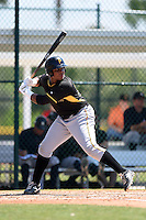 Pittsburgh Pirates Edwin Espinal (38) during a minor league spring training game against the New York Yankees on March 22, 2014 at Pirate City in Bradenton, Florida.  (Mike Janes/Four Seam Images)