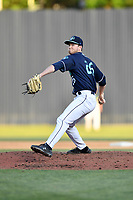 Asheville Tourists pitcher Michael Horrell (26) delivers a pitch during a game against the Greenville Drive on May 20, 2021 at McCormick Field in Asheville, NC. (Tony Farlow/Four Seam Images)