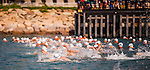 Competitors in action during 'The Five'  5km open water swim race on 20 October 2013 in Hong Kong.  Photo by Mike Pickles / The Power of Sport Images